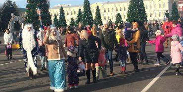 Новогодний  прием  в резиденции  Деда Мороза